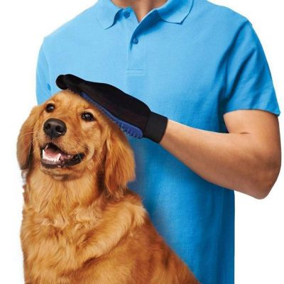 DogLemi RT264 Pet Deshedding Brush Gloves Grooming Massage Bath Comb