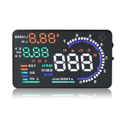 A8 5.5 inch Digital OBD II Car Head Up Display (HUD) Projector