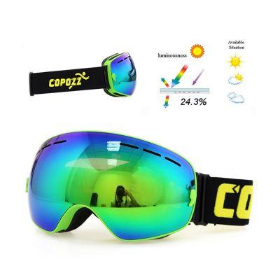COPOZZ GOG-201 Pro UV400 Ski Goggles Double Layer Anti-fog