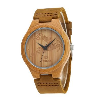Redear SJ1448-11 Wooden Quartz Watch-Male Brown