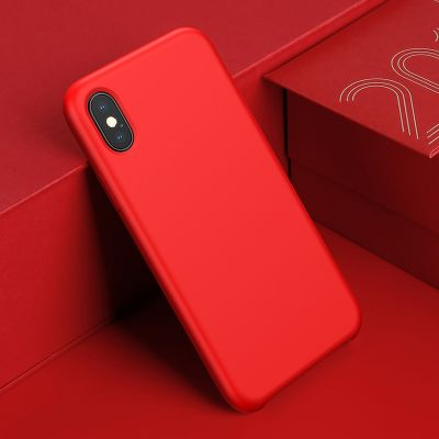 baseus luxury liquid silicone case