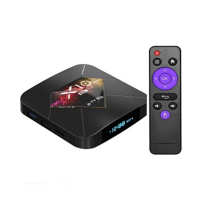 r-tv box x10 plus tv box 4gb 64gb