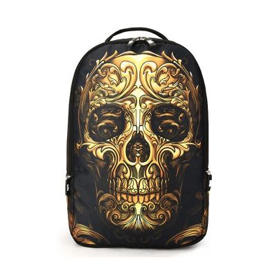 skull pattern multifunctional backpack