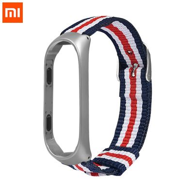 xiaomi mi band 4 striped canvas replacement watchband