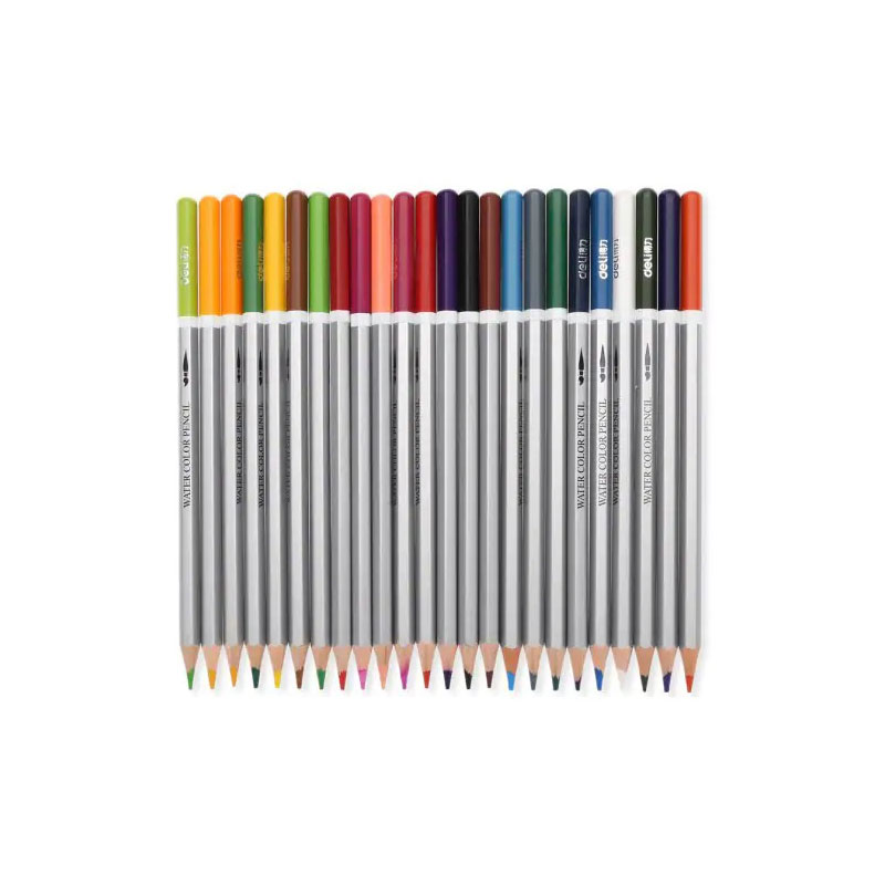 DELI 24PCS Assorted Water Soluble Color Pencil Lead Drawing Stationery фото