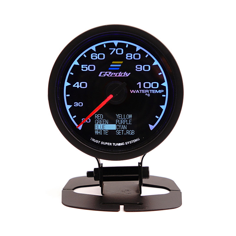 GReddy 60mm Multi D/A Water Temperature Gauge 7 Light Colors LCD Display фото