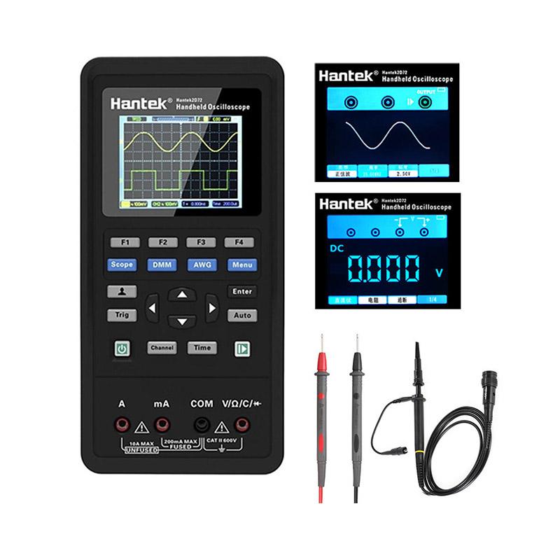 Hantek 2D72 3 in 1 Test Meter Tools Digital Oscilloscope+Waveform Generator+Multimeter Portable USB 2 Channels фото