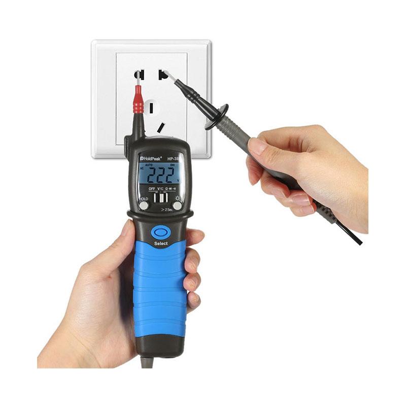 HoldPeak HP-38B Backlight LCD Display Pen Type Digital Multimeter Meter Resistance Diode Continuity Tester