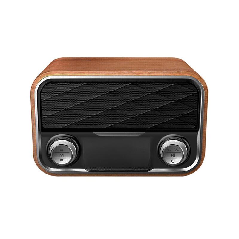 I10 Wooden Surface Portable Retro Bluetooth Speaker