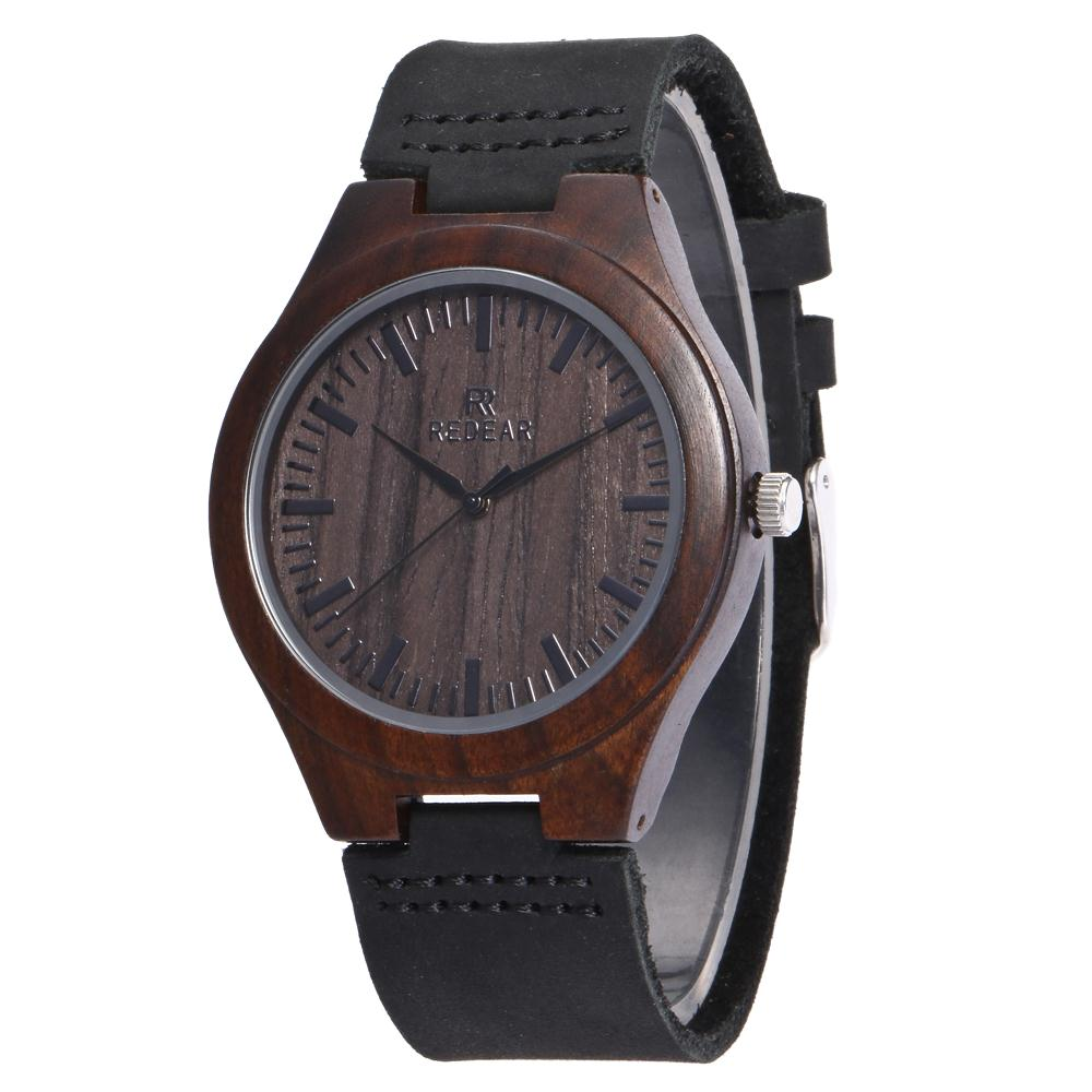 Redear SJ1448-4 Wooden Quartz Watch-Men Ebony фото