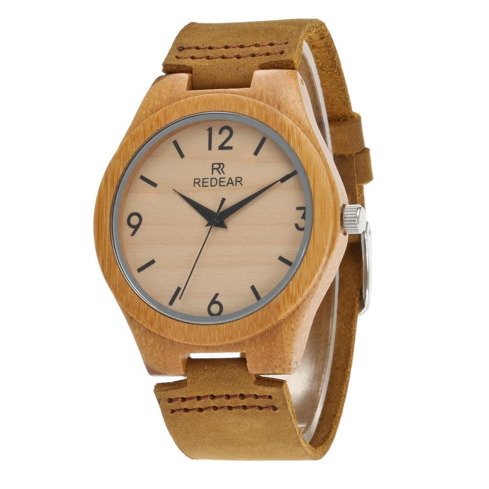 Redear SJ1448-9 Wooden Quartz Watch-Male Brown фото