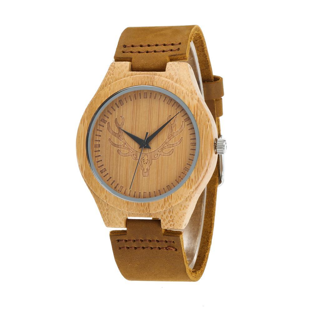 Redear SJ1448-8 Wooden Quartz Watch-Male Brown фото