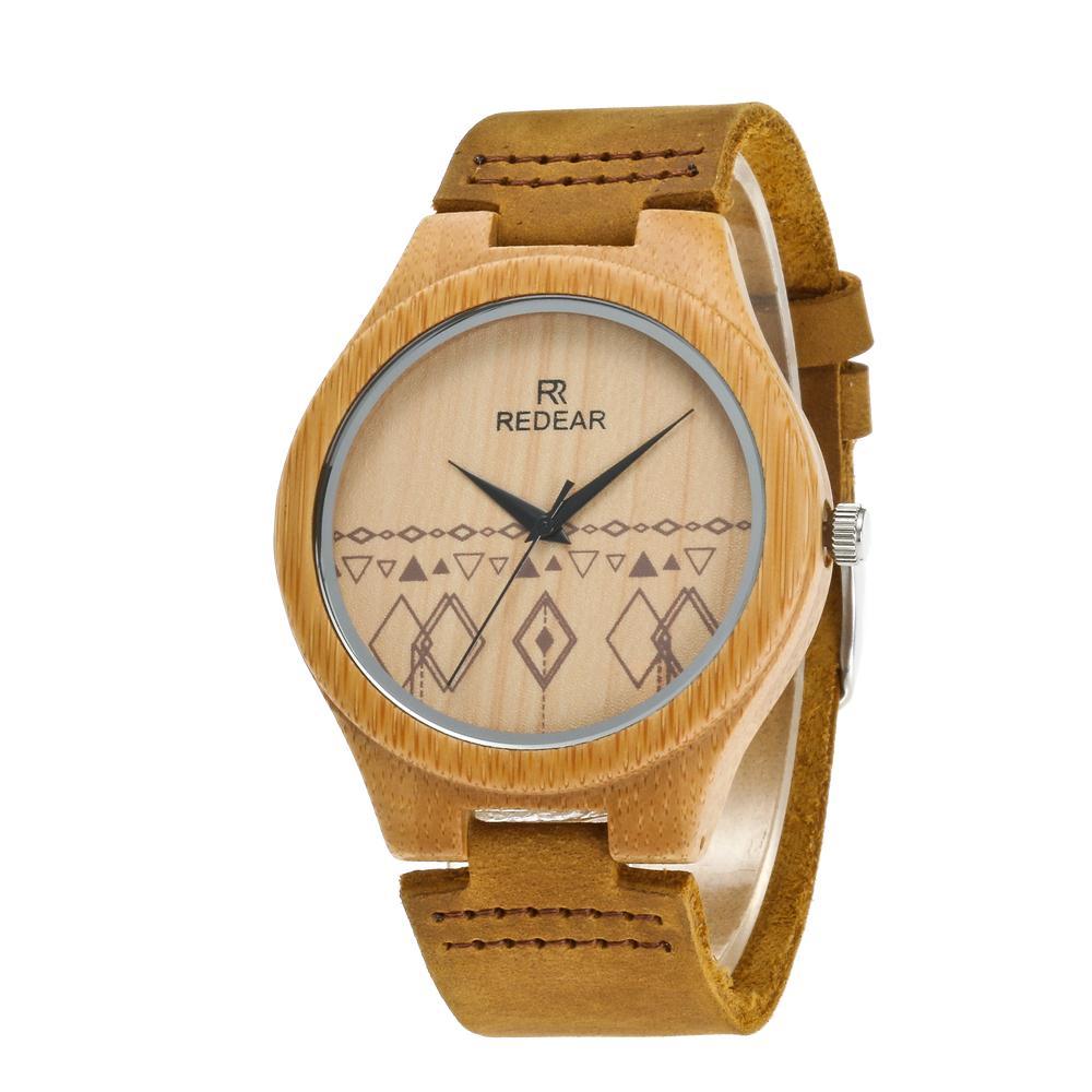 Redear SJ1448-2 Wooden Quartz Watch-Male Brown фото