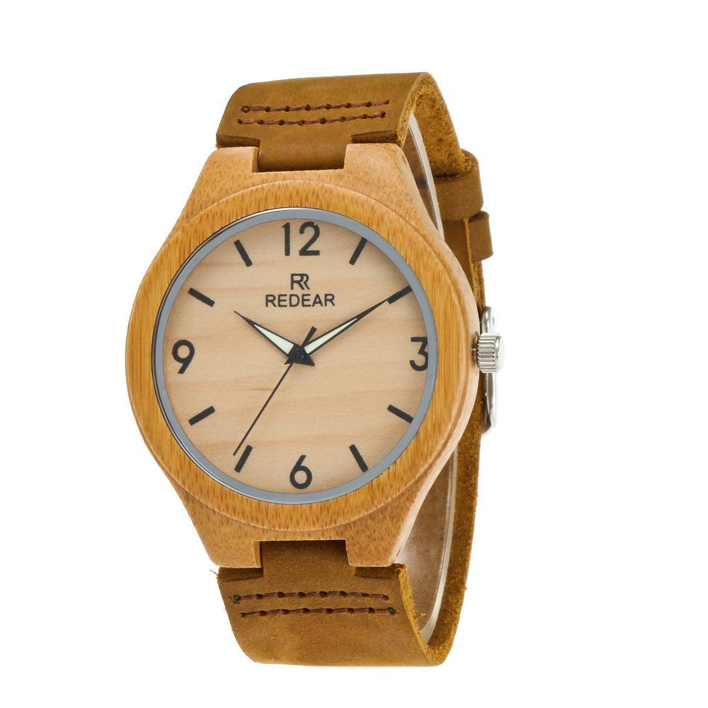 Redear SJ1448-10 Wooden Quartz Watch-Male Brown фото