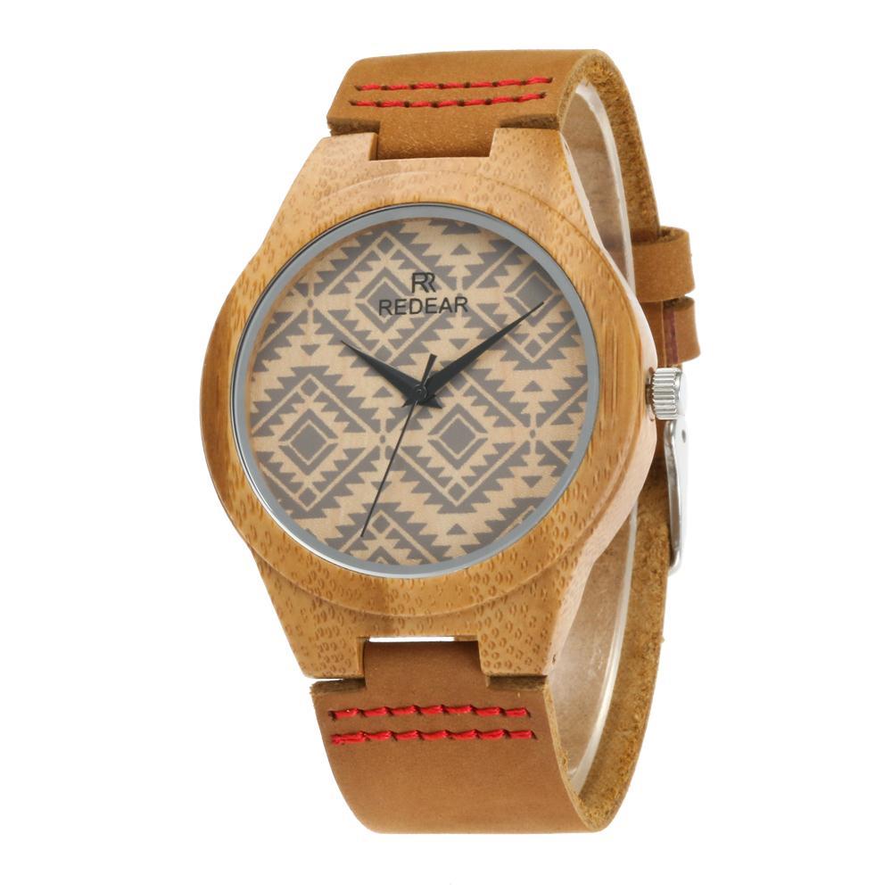 Redear SJ1448-6 Wooden Quartz Watch-Male Brown фото