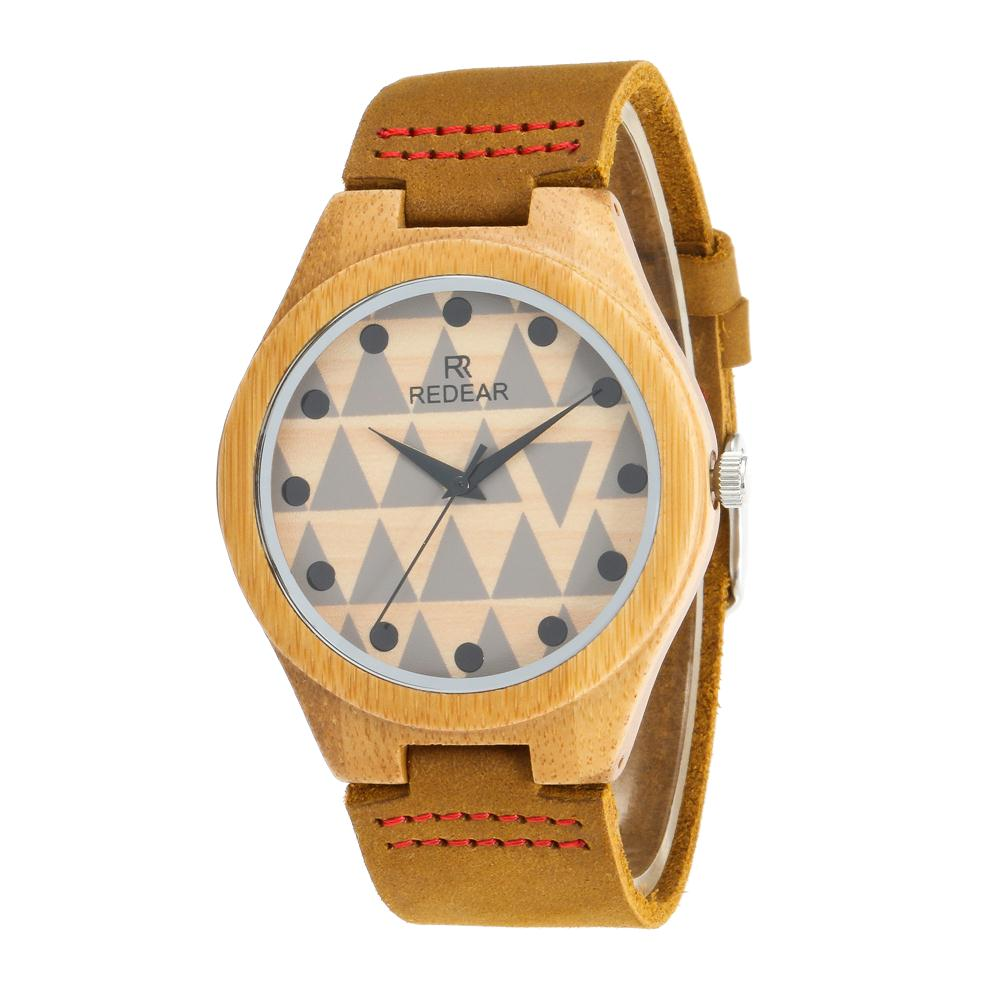 Redear SJ1448-7 Wooden Quartz Watch-Male Brown фото