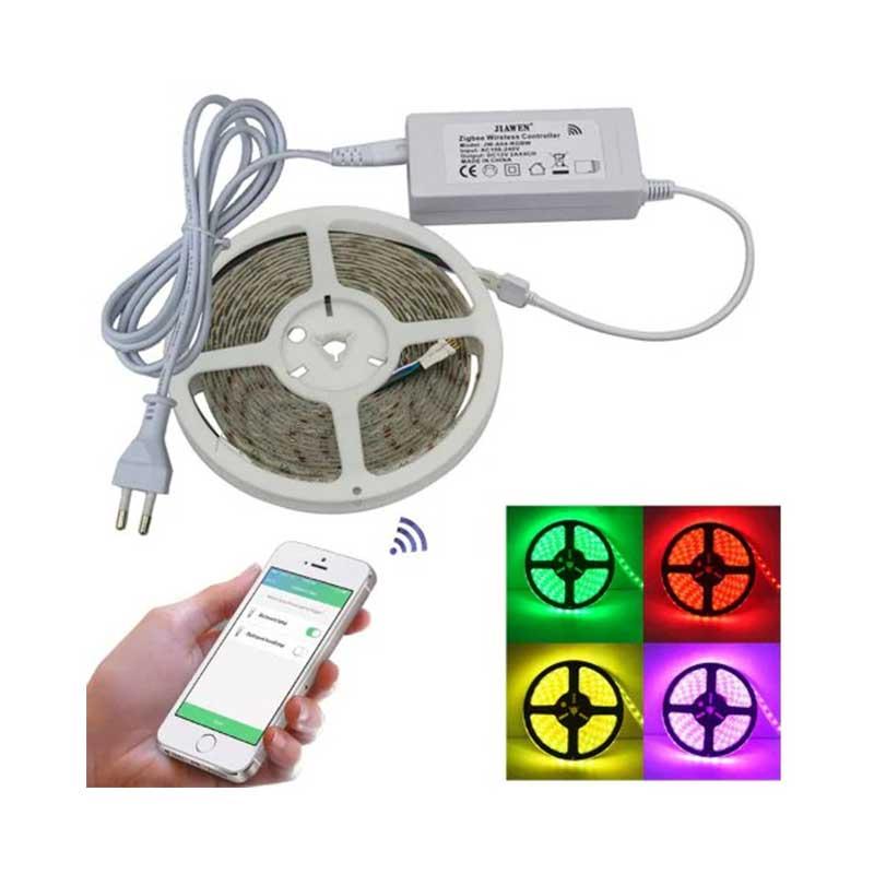 JIAWEN Smart Home 5M RGB/RGBW LED Light Strip APP Control