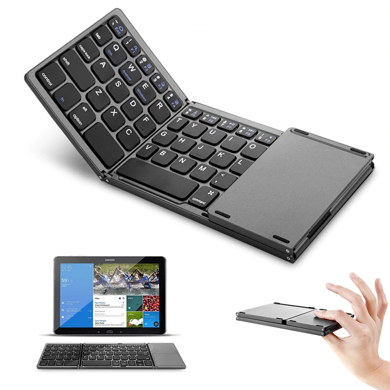 Mini Foldable Touch 3.0 Bluetooth Keyboard Compatible with Win/ IOS/ Android