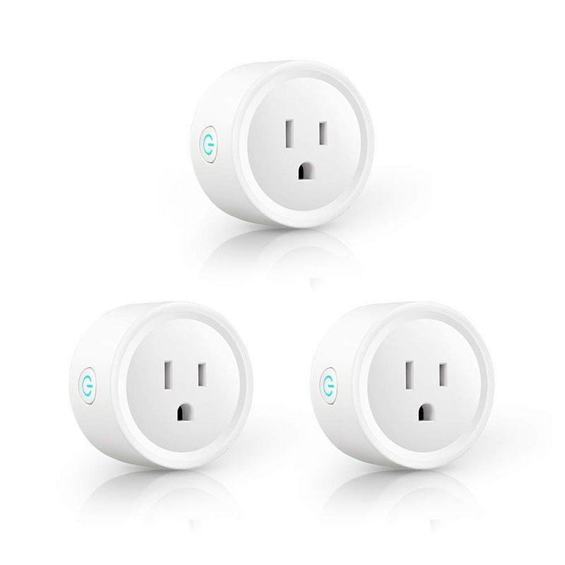 Smart Plug WiFi Outlets Mini Smart Socket Remote Control (3Pcs)