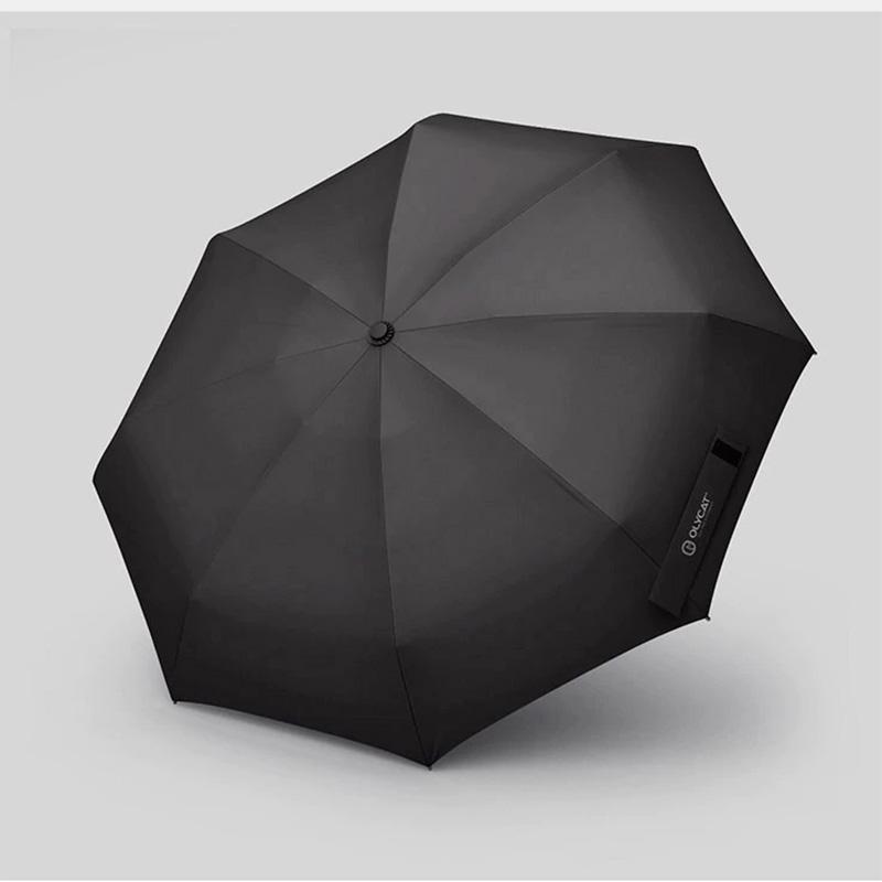 OLYCAT OC501-Q Mini Umbrella Wooden Handle 400T Sunscreen Parasol Pocket Folding Small Rain Windproof