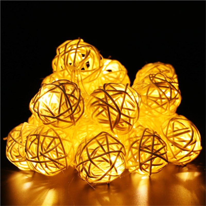 Hollow Out Ball Led String Light фото