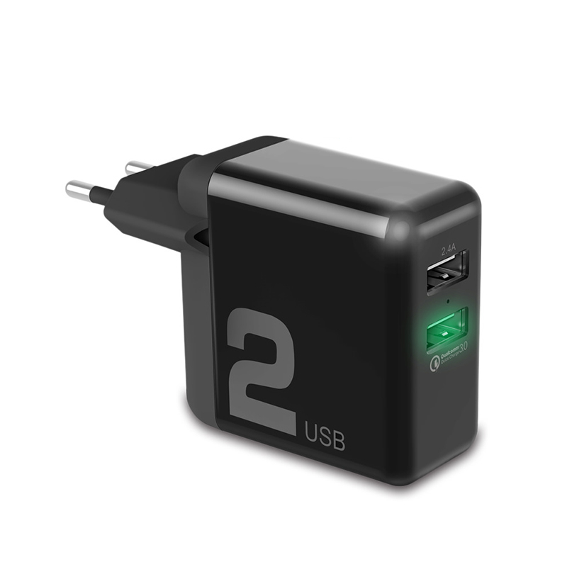 ROCK QC 3.0 Dual USB Quick Phone Charger фото