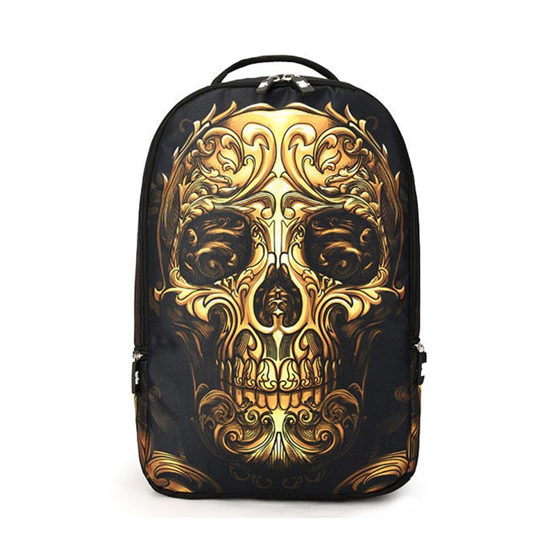 Skull Pattern Multifunctional Backpack Outdoor Sports Shcool Bag фото