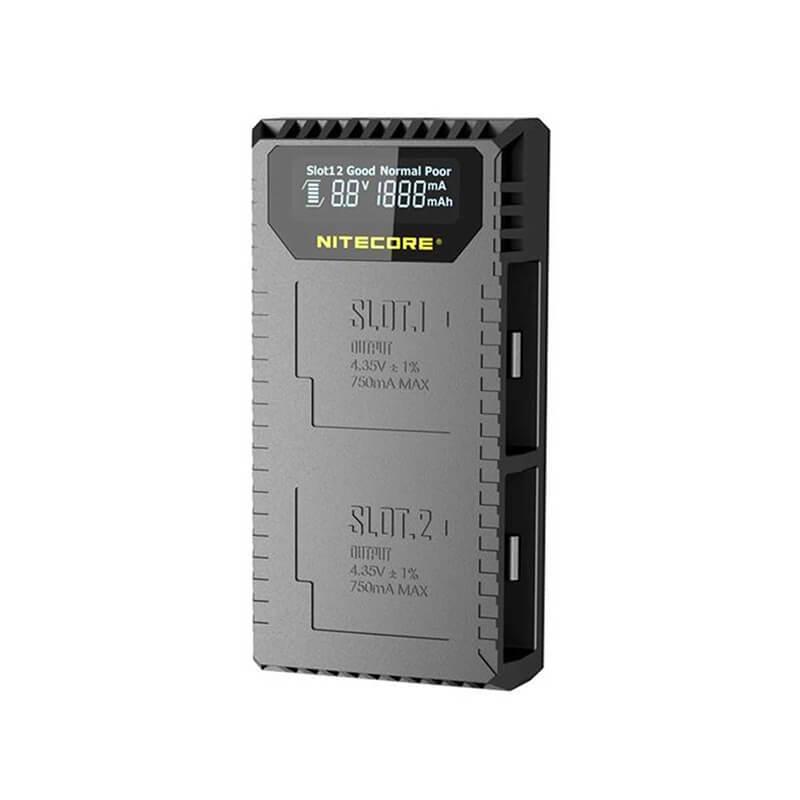 Nitecore UGP5 USB Charger for GoPro Hero 5/6 Black Battery