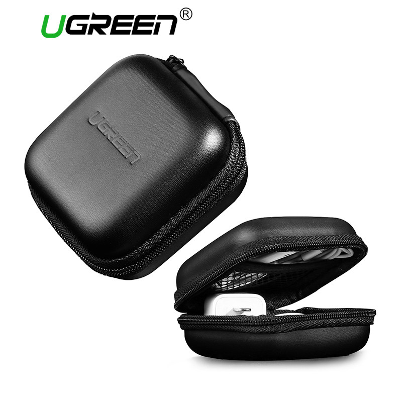 Ugreen LP128 Portable Earphone Bag Storage for Memory Card USB Cable фото
