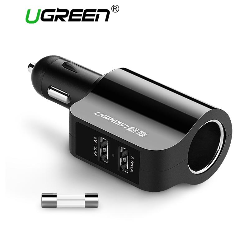 Ugreen CD115 Universal Dual USB Car Charger фото