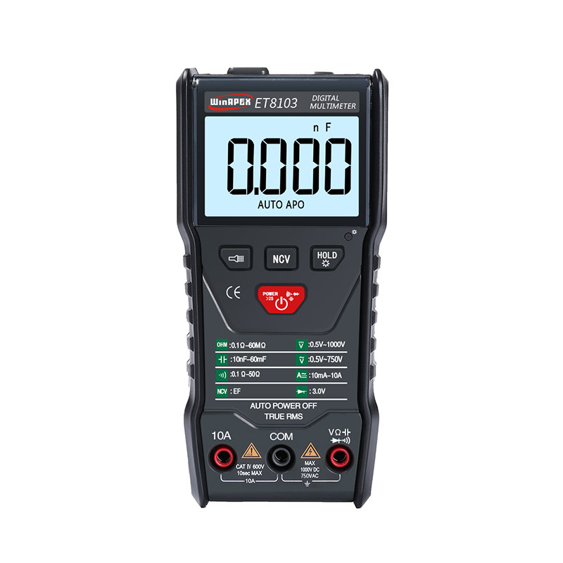 WinAPEX ET8103 LCD Display Portable Auto Measure Multimeter with Flashlight Function фото