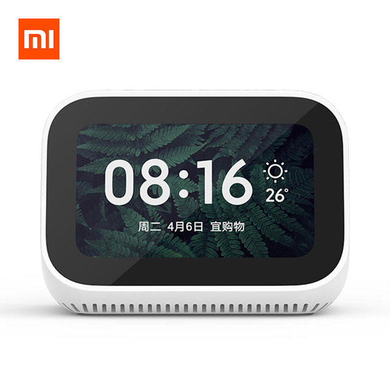 Xiaomi AI Touch Screen Bluetooth 5.0 WiFi Speaker Digital Display Alarm Clock фото
