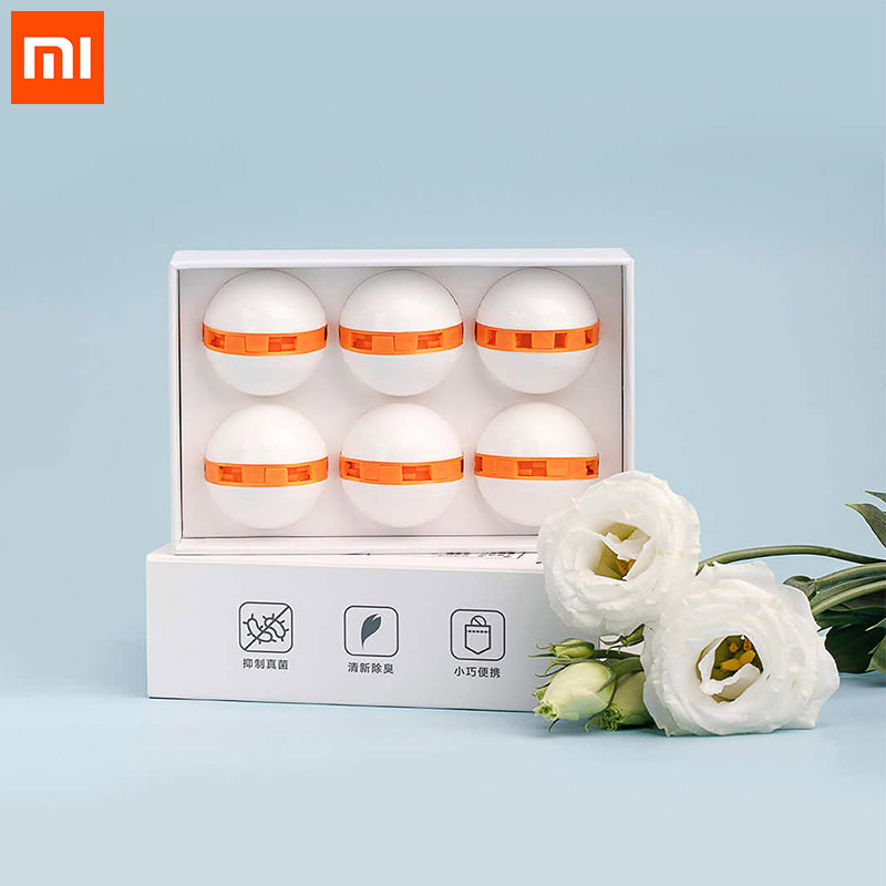 Xiaomi Youpin Clean-n-Fresh Deodorant Shoes Ball 6pcs for Home Shoes фото