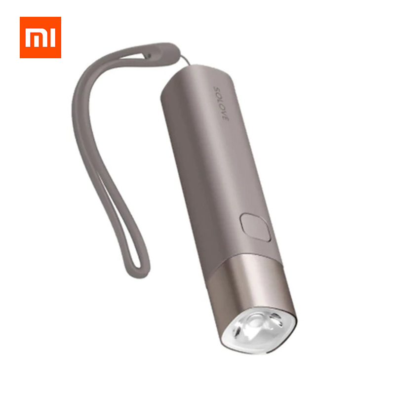 Xiaomi SOLOVE X3 USB Rechargeable Mini LED Flashlight For Outdoor 258 Lumens фото