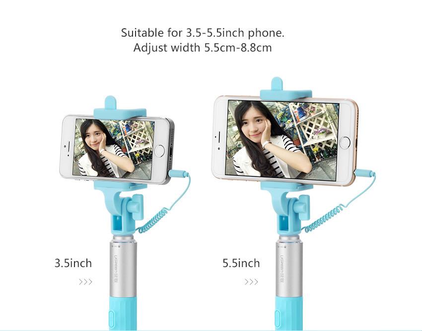 monopod wired selfie stick