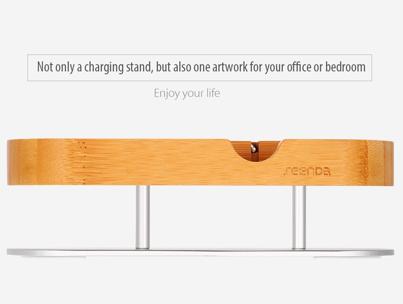 Seenda IPS-Z32  Wooden Charging Stand for Cellphone Smart Watch