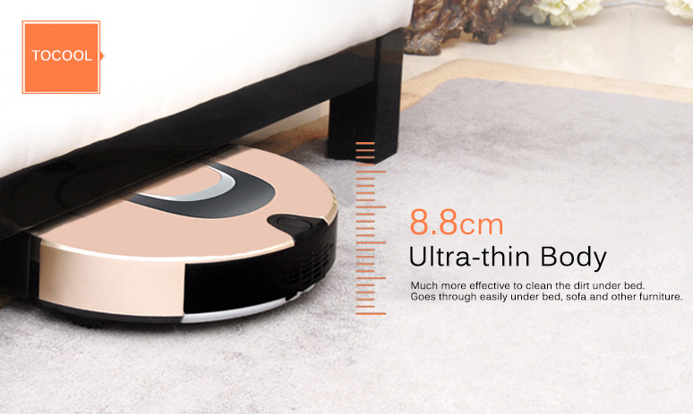 tocool smart robotic vacuum cleaner