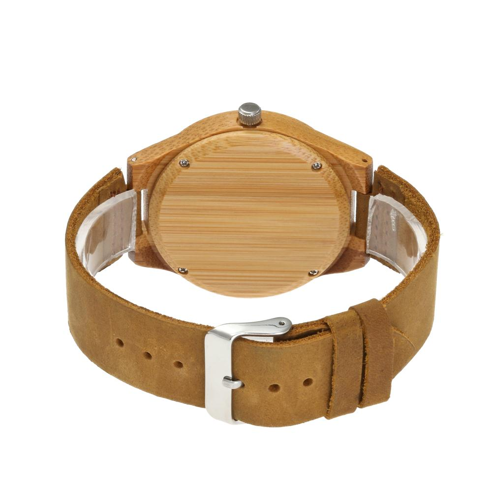 Redear SJ1448-3 Wooden Quartz Watch-Male Brown
