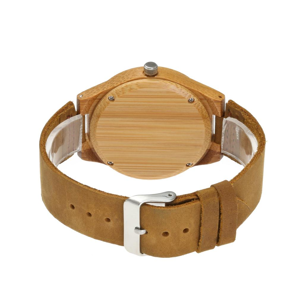 Redear SJ1448-9 Wooden Quartz Watch-Male Brown