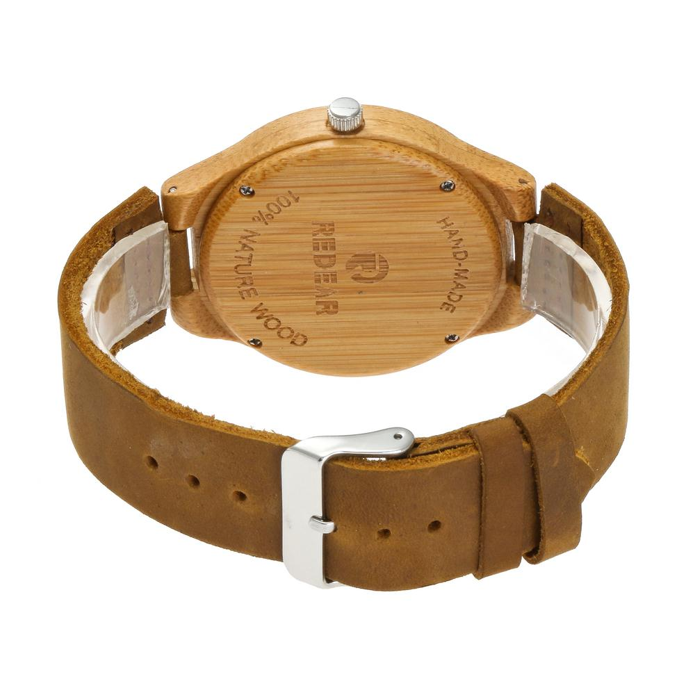 Redear SJ1522 -1 Wooden Quartz Watch- Female Brown