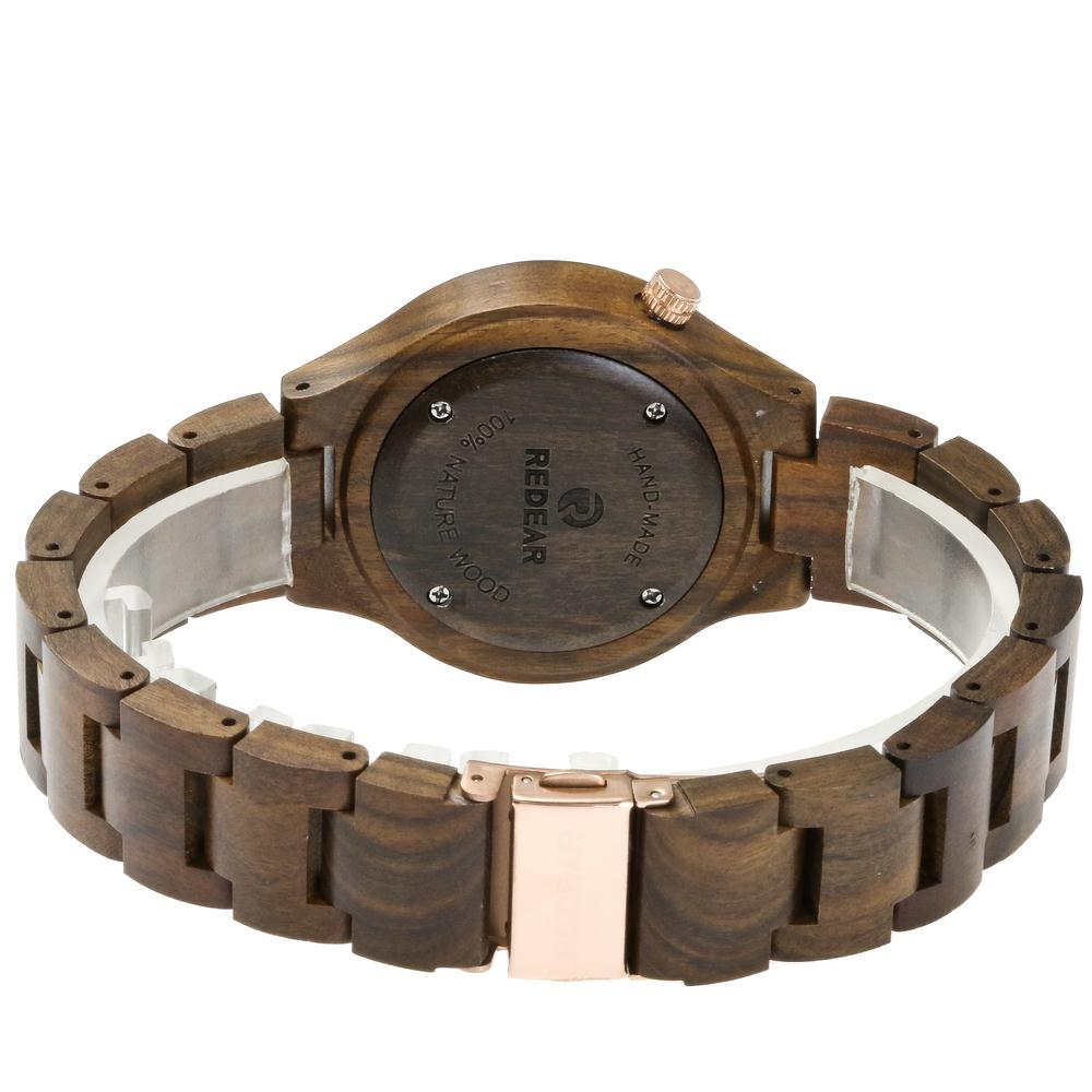 Redear SJ1603-4 Wooden Quartz Watch Male
