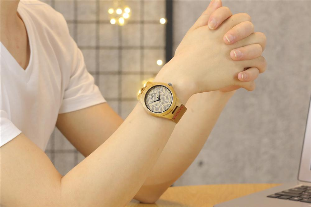 Redear SJ1448-6 Wooden Quartz Watch- Male Brown