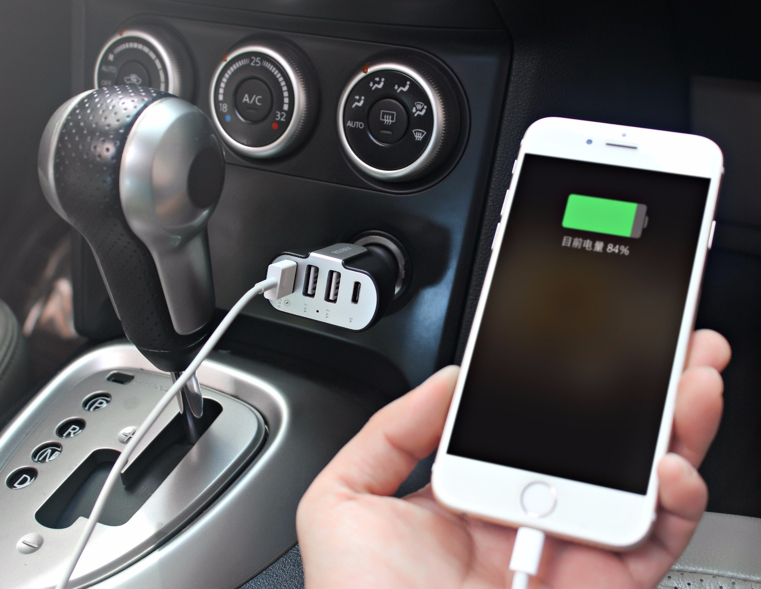 Seenda QC3.0 Fast Charging Car Charger with USB / Type-C Port