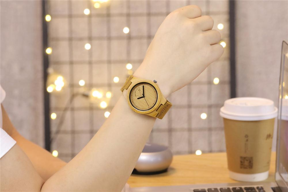 Redear SJ1448-3 Wooden Quartz Watch-Male Brown