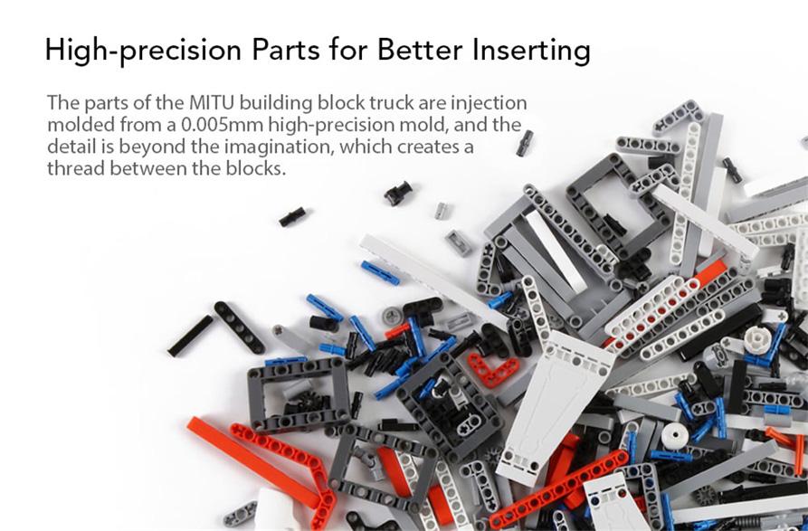 mitu building block mine truck