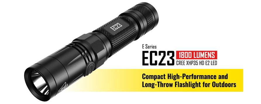 nitecore ec23 flashlight
