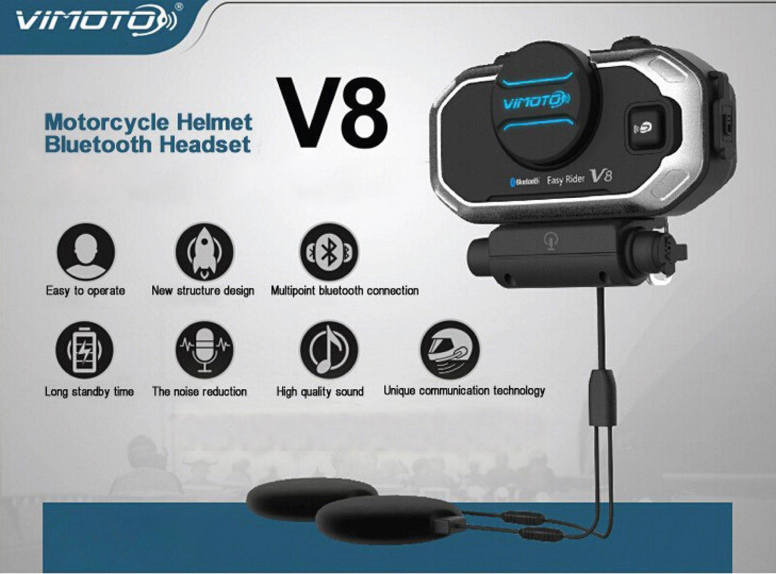Motorcycle Bluetooth Headsets Shopping Guide Gearvita High Quality Intercom Vimoto V8