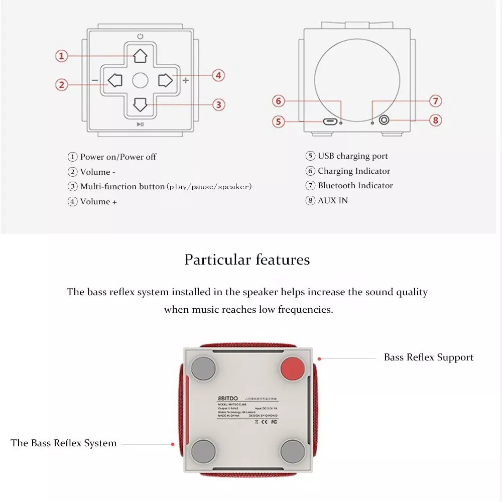 8bitdo retro cube speakers