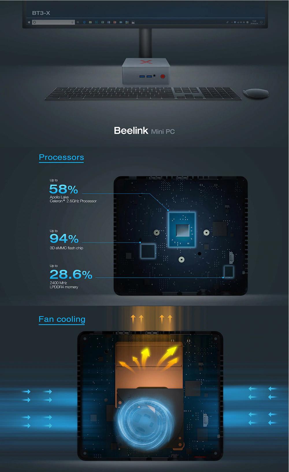 beelink bt3-x wifi bluetooth mini pc