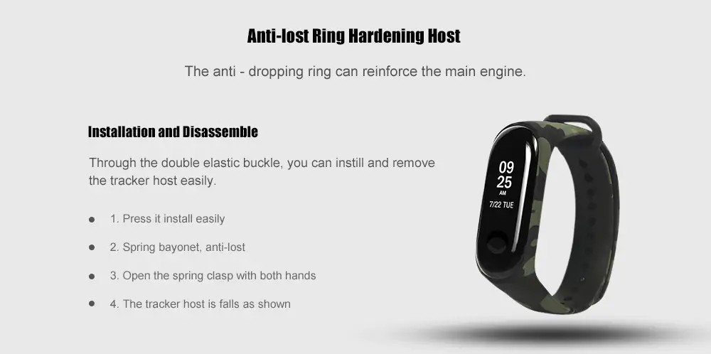 buy xiaomi mi band 3 camouflage replacement watchband